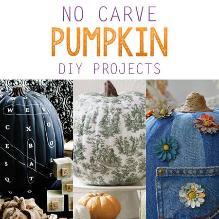 No Carve Pumpkin DIY Projects
