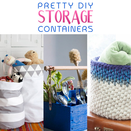 Pretty DIY Storage Containers