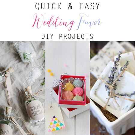 Quick and Easy Wedding Favor DIY Projects
