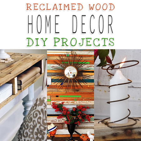 Reclaimed Wood Home Decor DIY Projects