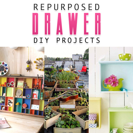 Repurposed Drawer DIY Projects