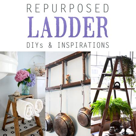 Repurposed Ladder DIYs & Inspirations