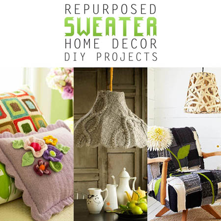 Repurposed Sweater Home Decor DIY Projects