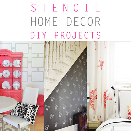 Stencil Home Decor DIY Projects
