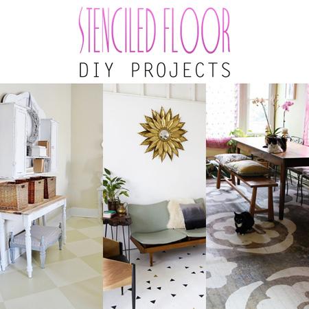 Stenciled Floor DIY Projects