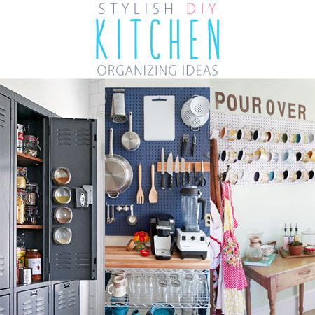 Stylish DIY Kitchen Organizing Ideas