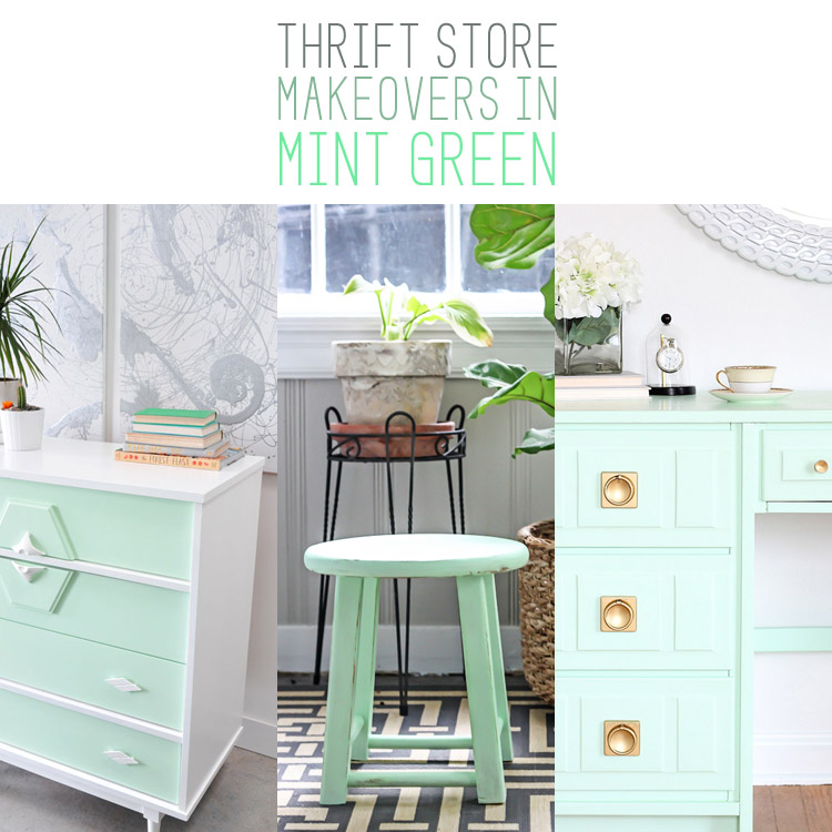 Thrift Store Makeovers in Mint Green