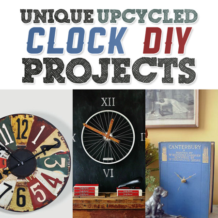Unique Upcycled Clock DIY Project