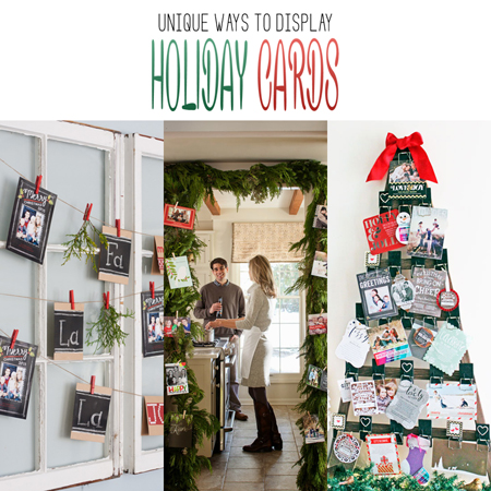 Unique Ways to Display Holiday Cards