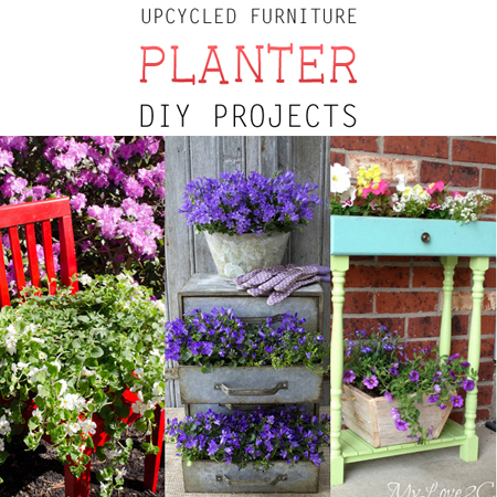 Upcycled Furniture Planter DIY Projects
