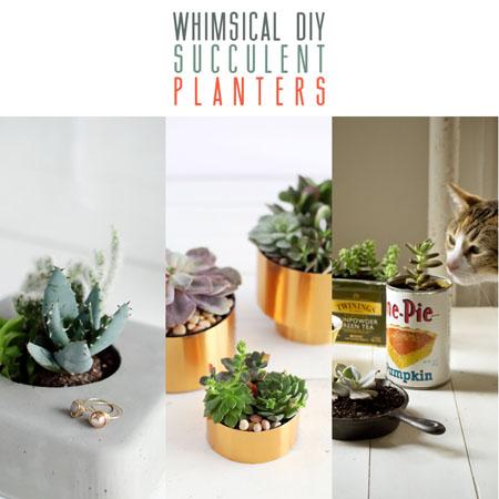 Whimsical DIY Succulent Planters