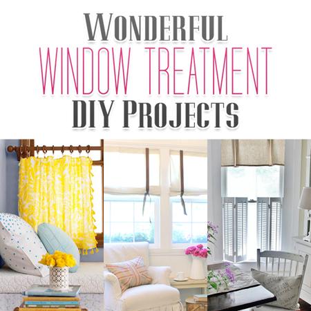 Wonderful Window Treatment DIY Projects