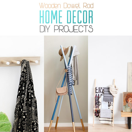 Wooden Dowel Rod Home Decor DIY Projects