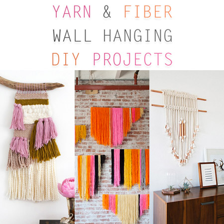 Yarn and Fiber Wall Hanging DIY Projects
