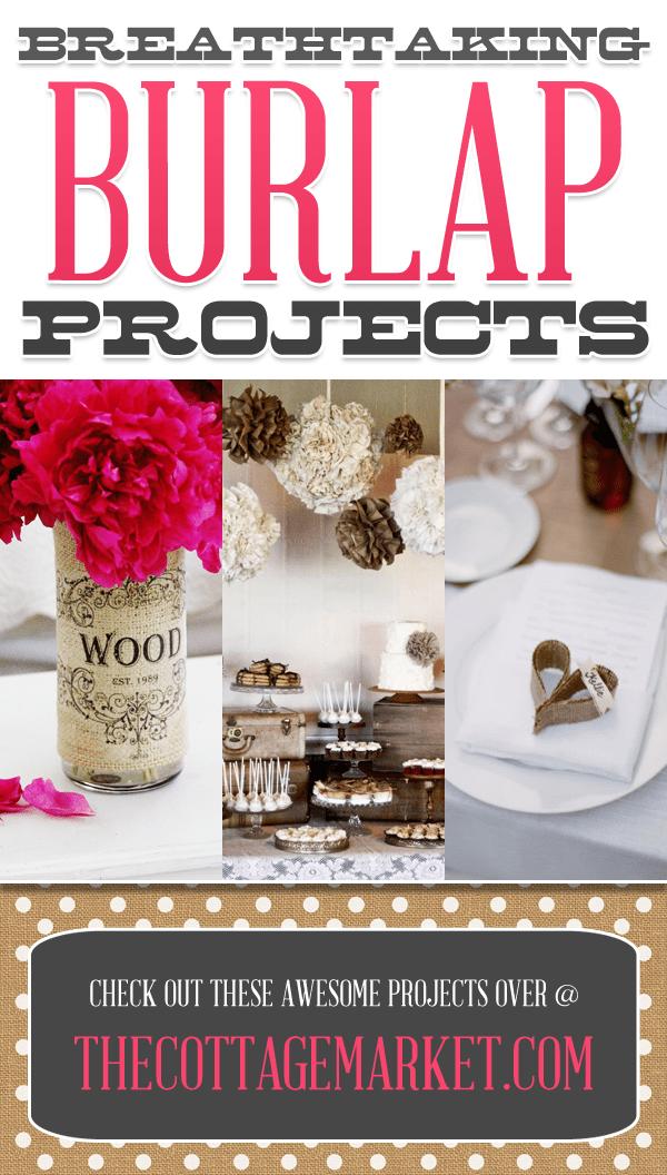 Breathtaking Burlap Projects | 25 Creative DIY Burlap Projects