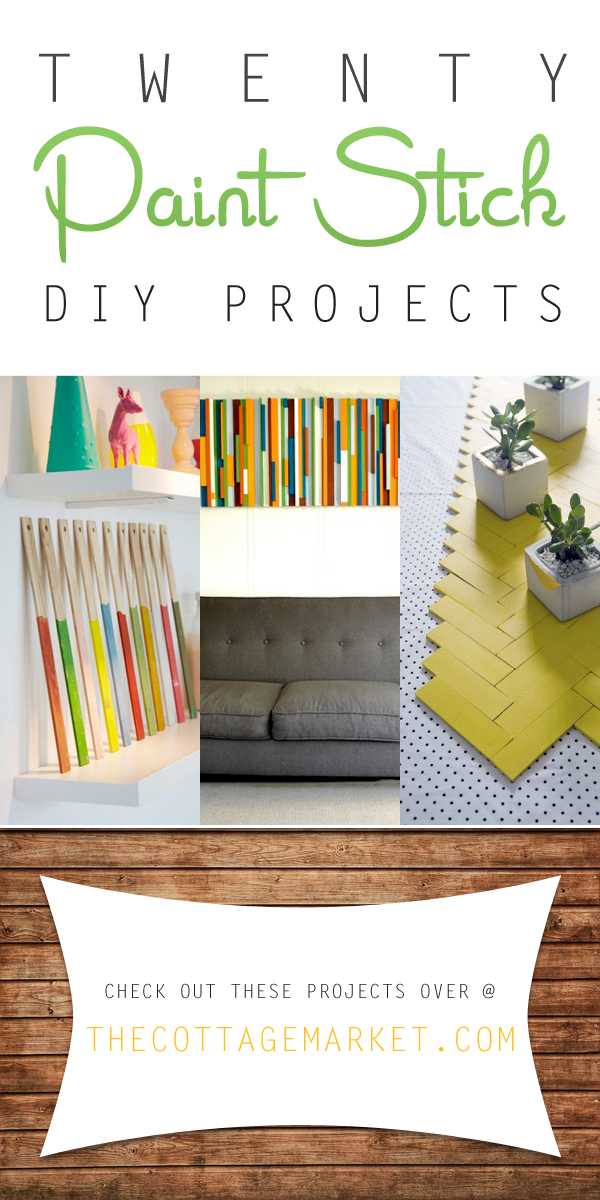 Use these DIY project ideas to make use of old paint sticks.