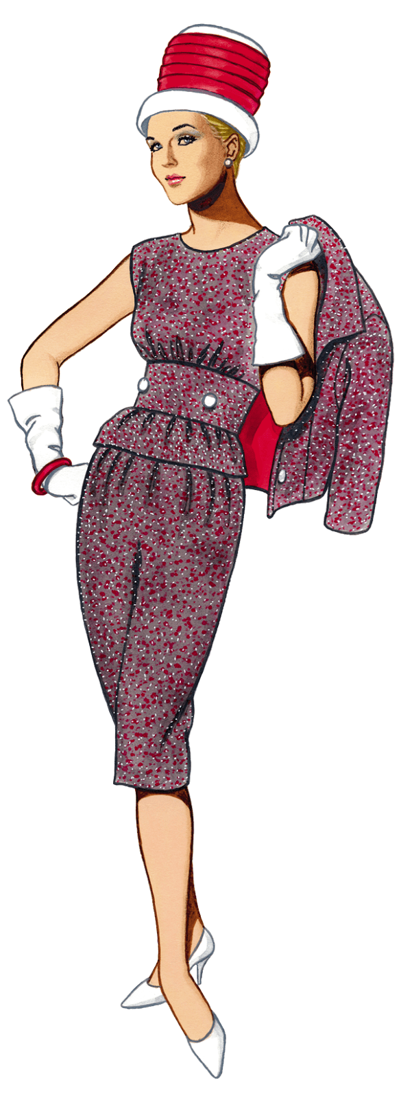 Image of the Day 1960's Fashion Clipart a touch of Mad Men flair