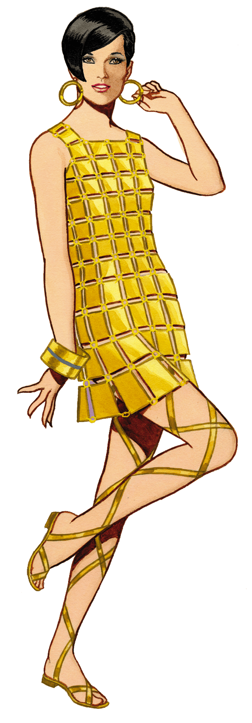 Graphic of the Day 1966 Paco Rabanne Plastic Dress