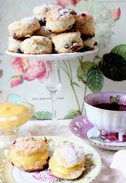 Lemon Curd and Homemade Scones