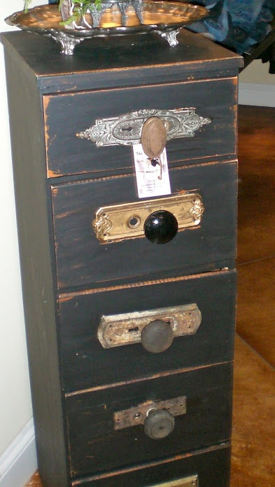 Vintage filing drawers make perfect thrift store DIY project that you can turn into storage for almost anything