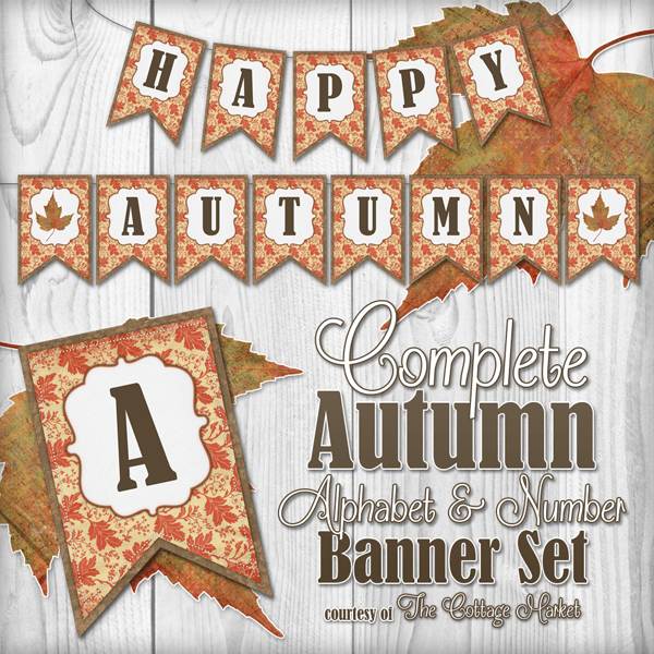 Free Complete Autumn Alphabet And Number Banner Bunting