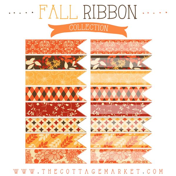 Free Fall Digital Ribbons
