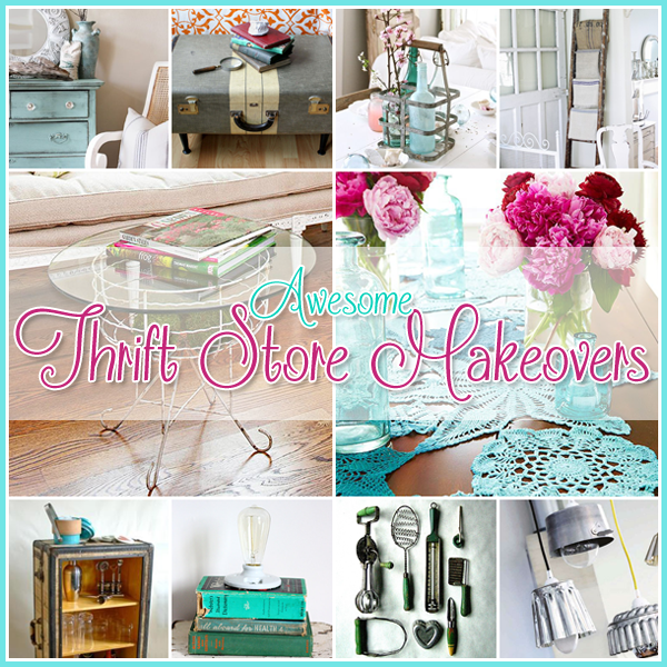 Thrift Store DIY Projects: 23 Awesome Thrift Store Makeovers