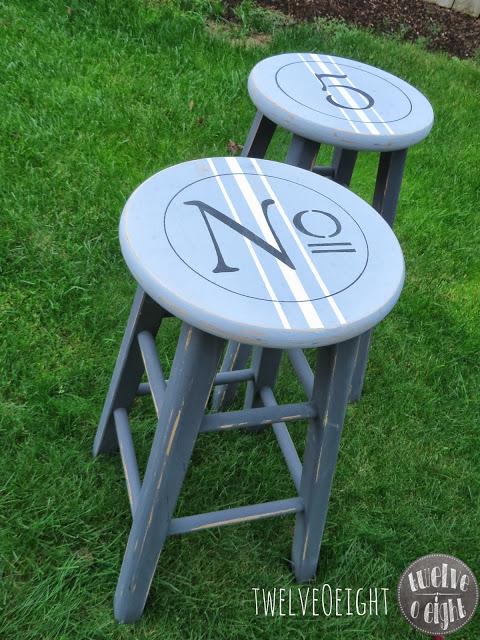 chalk paint stool 3