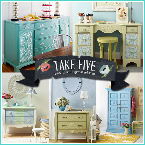5 Fresh Furniture Makeovers in Blue and Green