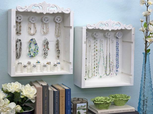 These old wine crates have a new life as jewelry display and storage boxes