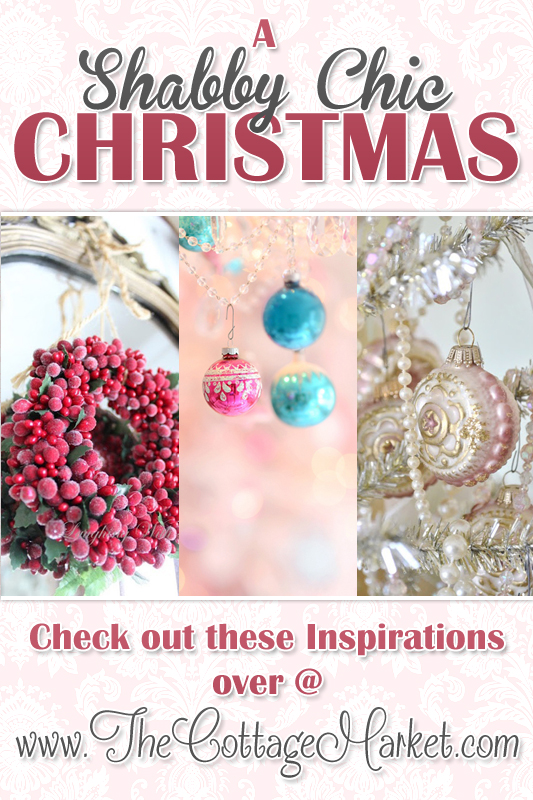 Check out these inspirations for a shabby chic Christmas.
