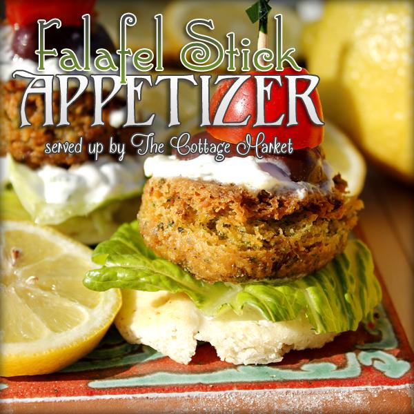 Falafel Stick Appetizer Easy Entertaining Recipe