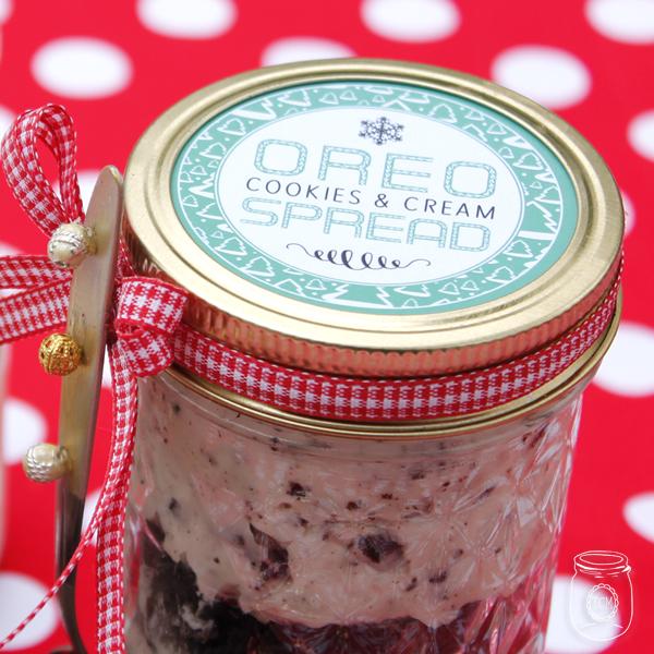 Oreo Cookies & Cream Spread Mason Jar Gift