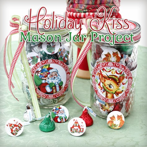 Holiday Candy Mason Jar With Kisses Gift Diy The Cottage Market