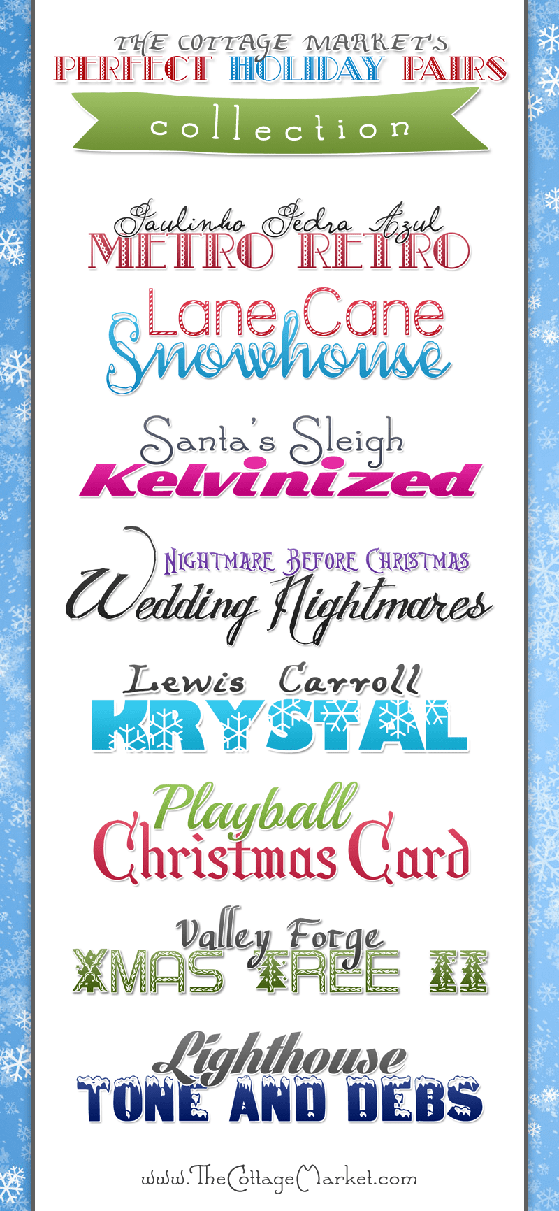 Free Fonts The Perfect Holiday Pair Collection