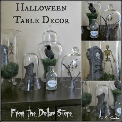 dollar store halloween decorating