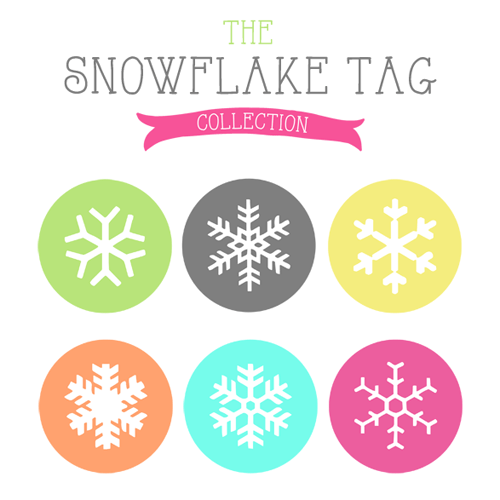 Free snowflake gift tags - the complete collection