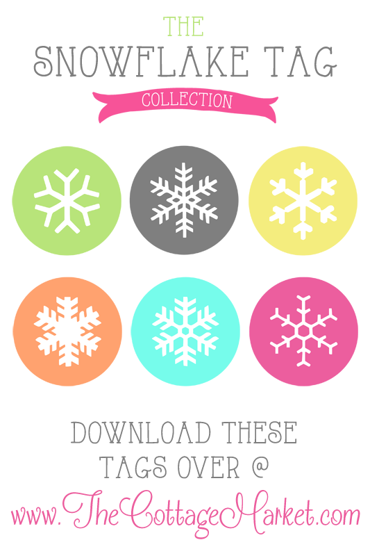 Free printable snowflake gift tags collection from The Cottage Market