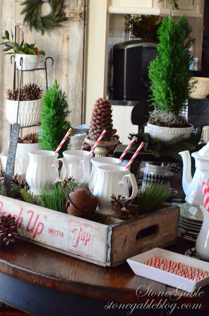 table-Christmas-hot cocoa station-stonegableblog.com