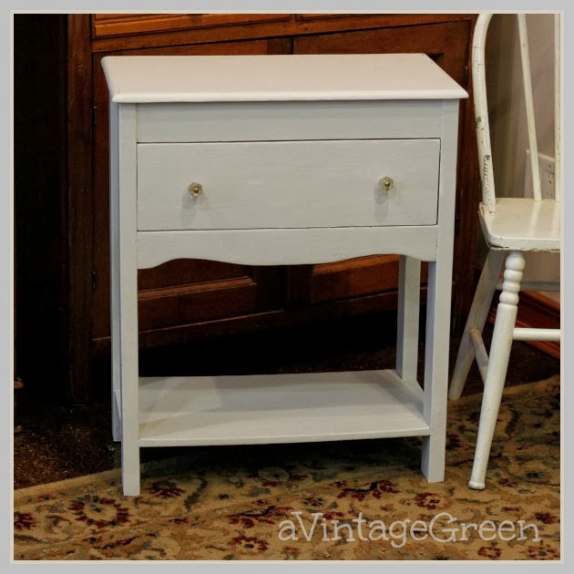 Painted Side Table Drawer Shelf