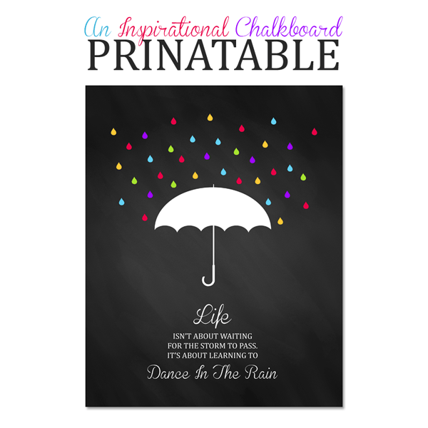 Free Chalkboard Printable Art Inspirational Quote