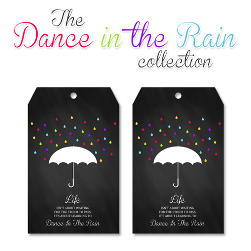 Free Chalkboard Printable Tags with Inspirational Quote