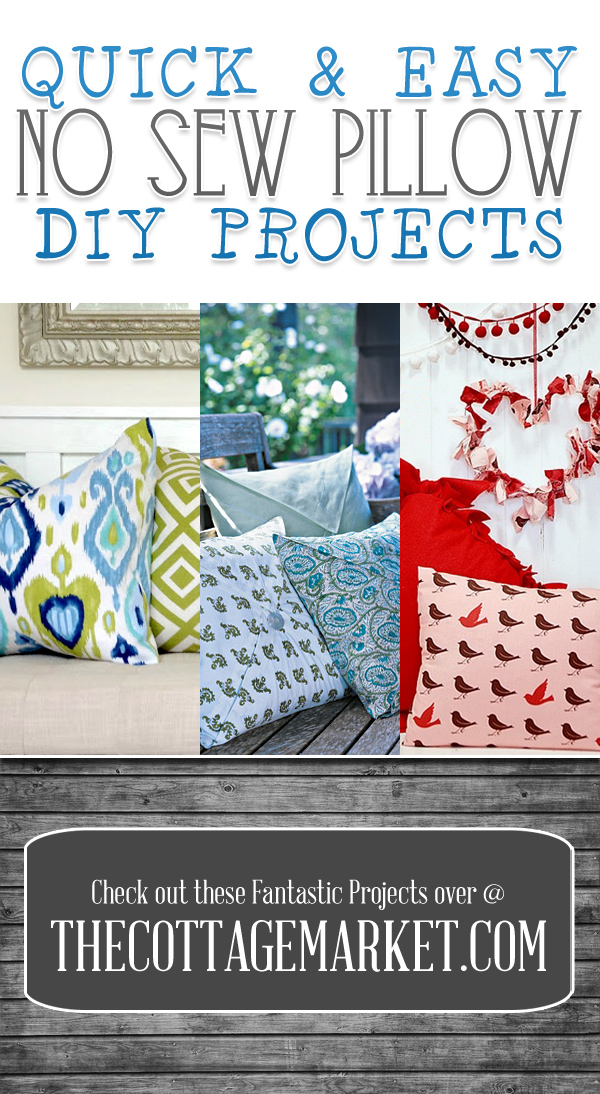 Quick & Easy NO Sew Pillow DIY Projects