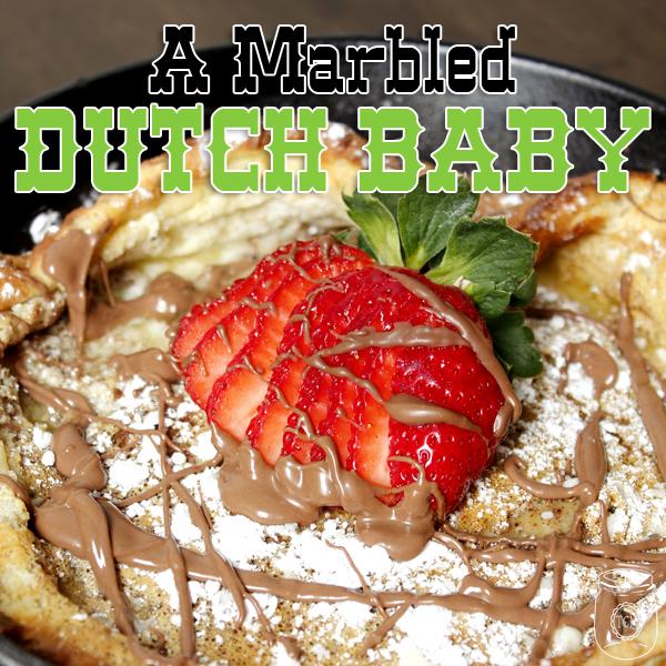 Marbled Dutch Baby
