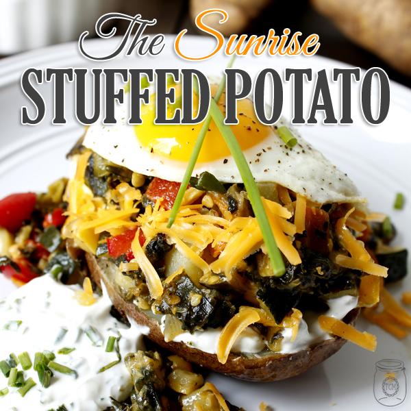 Sunrise Stuffed Baked Potatoes