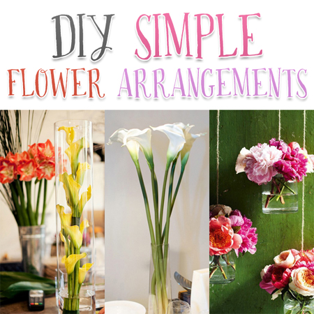 DIY Simple Flower Arrangements