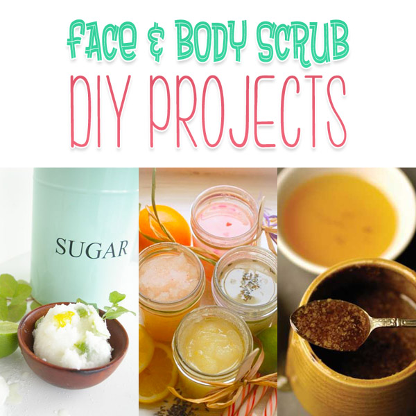 Face and Body Scrub DIY Projects Collection