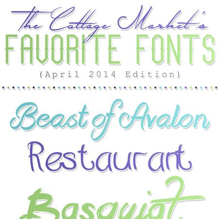 Fabulous Free Fonts {April 2014}