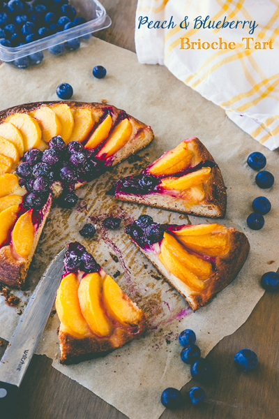 Delicious Everyday...Peach and Blueberry Brioche Tart