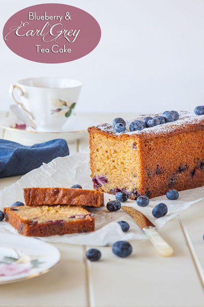 Delicious Everyday...Blueberry and Earl Grey Tea Cake